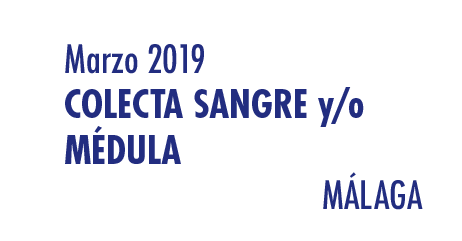 Registrarte como donante de médula en Málaga en Marzo 2019
