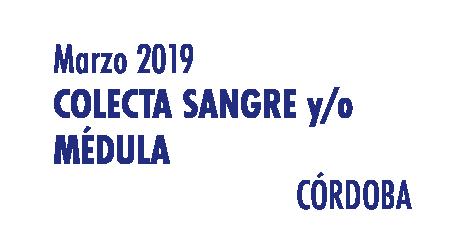 Registrarte como donante de médula en Córdoba en Marzo 2019