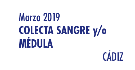Registrarte como donante de médula en Cádiz en Marzo 2019
