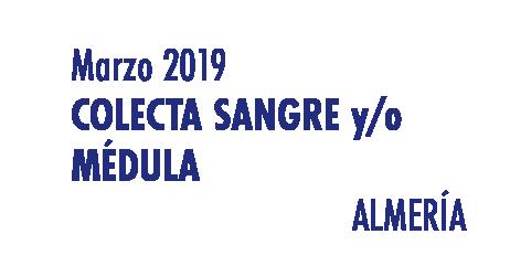 Registrarte como donante de médula en Almería en Marzo 2019