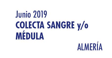 Registrarte como donante de médula en Almería en Junio 2019